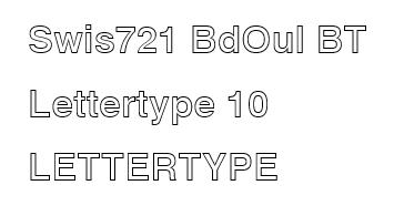 Swis721 BdOul BT lettertype 10 RB Laser