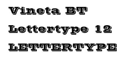 Vineta lettertype 12 RB Laser