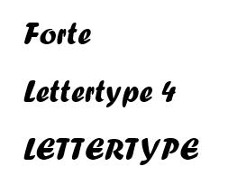 Forte lettertype 4 RB Laser