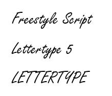Freestyle Script lettertype 5 RB Laser