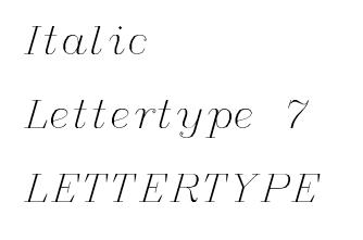 Italic lettertype 7 RB Laser