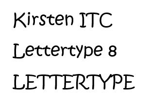 Kirsten ITC lettertype 8 RB Laser