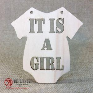 Geboorte romper 'it is a girl'