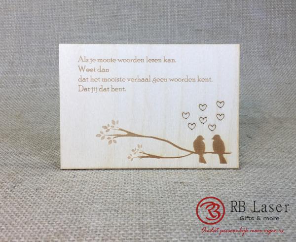 Postkaart Lovebirds