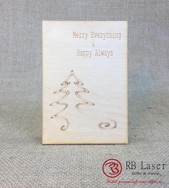 Kerstkaart met sierlijke kerstboom