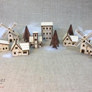 Kersthuisjes klein dorpje