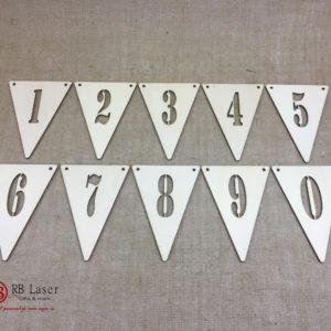 Lettervlaggen 0 tm 9