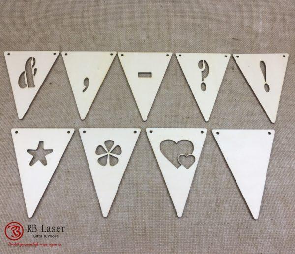 Lettervlaggen leestekens en vormen