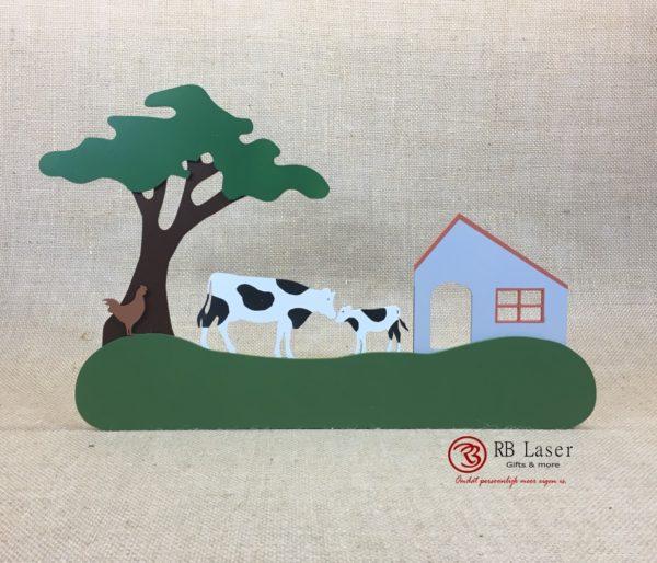 Naambord koeien op de boerderij