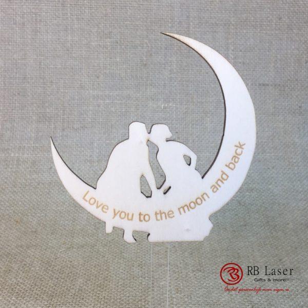 Caketopper, op de maan