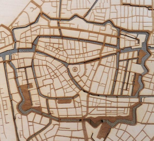 Plattegrond Leiden centrum